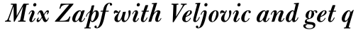 Bulmer MT SemiBold Italic sample
