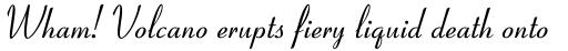 Coronet MT Italic sample