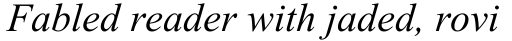 Times New Roman MT Italic sample