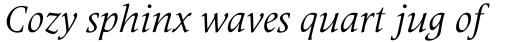 Latin 725 Italic sample
