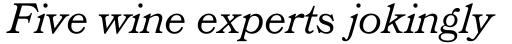 Bookman Headline Italic sample