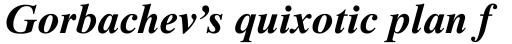 Times Ten Bold Italic sample
