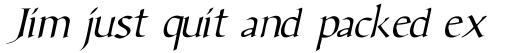 Benevento Italic sample