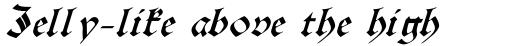 Burgundian Italic sample