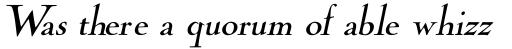 Cochin Archaic Italic sample