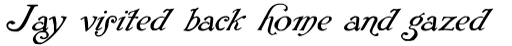 Rackham Italic sample