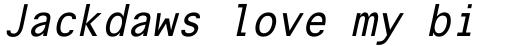 Onuava Italic sample