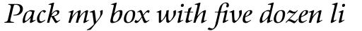 Aurelia Book Italic sample
