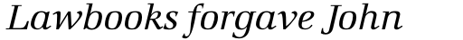 Marconi Book Italic sample