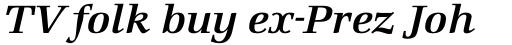 Marconi SemiBold Italic sample