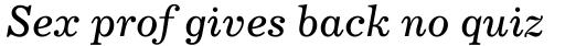 Century 731 Italic sample