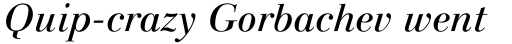 Linotype Gianotten Italic sample