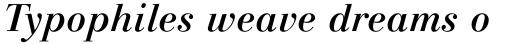 Linotype Gianotten Medium Italic sample