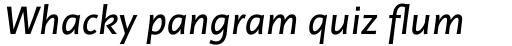 Linotype Projekt Italic sample