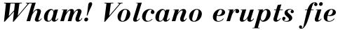 Linotype Gianotten Bold Italic sample