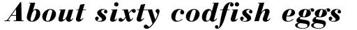 Linotype Gianotten Heavy Italic sample