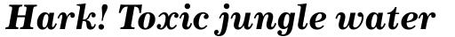 Century 731 Bold Italic sample