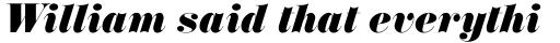 Annlie ExtraBold Italic sample