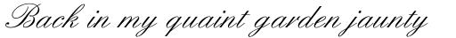 English Script Regular sample