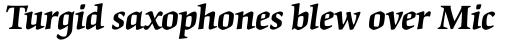 Origami SemiBold Italic sample