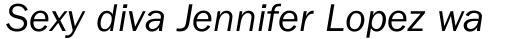 ITC Franklin Gothic Book Italic sample