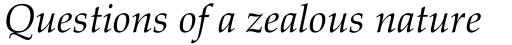 Palatino Linotype Italic sample