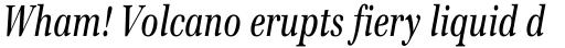 Emona Condensed Italic sample