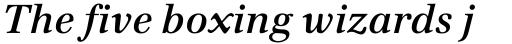 Emona SemiBold Italic sample