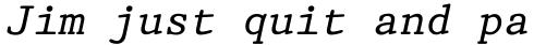 Prestige 12 Pitch Italic sample