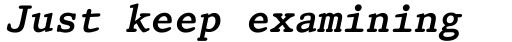 Prestige 12 Pitch Bold Italic sample