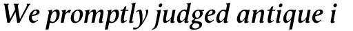 Vega Antikva SemiBold Italic sample