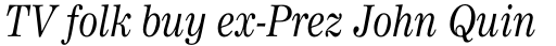 Worldwide Headline Italic sample