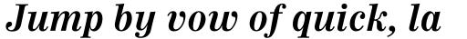 Worldwide Bold Italic sample