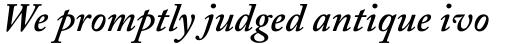 Adobe Caslon SemiBold Italic Oldstyle Figures sample