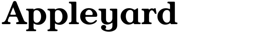 Click to view Appleyard font, character set and sample text