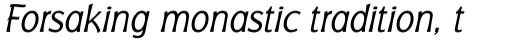 Badger Light Italic sample