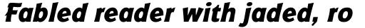 Badger ExtraBold Italic sample