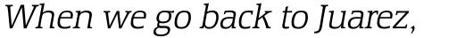 Equestrienne RR Light Italic sample