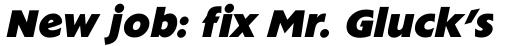 Extension RR ExtraBold Italic sample