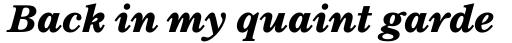 TC Century New Style Bold Italic sample
