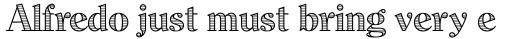 Dominus RR Modern Engraved sample