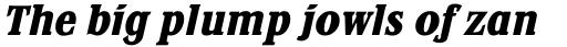 Stirling RR ExtraBold Italic sample