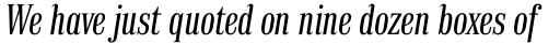 Finalia DT Condensed Italic sample