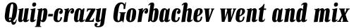 Finalia DT Condensed Bold Italic sample