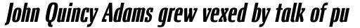 Chervonec Uzkj BT Std Bold Italic sample