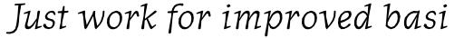 Journal Italic sample