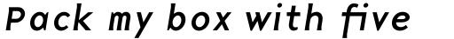 Base 9 Sans Italic sample