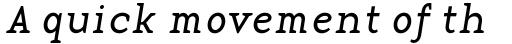 Base 12 Serif Italic sample