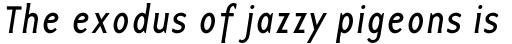 Base 12 Sans Italic sample