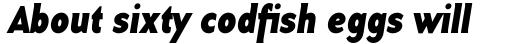 Base 12 Sans Bold Italic sample